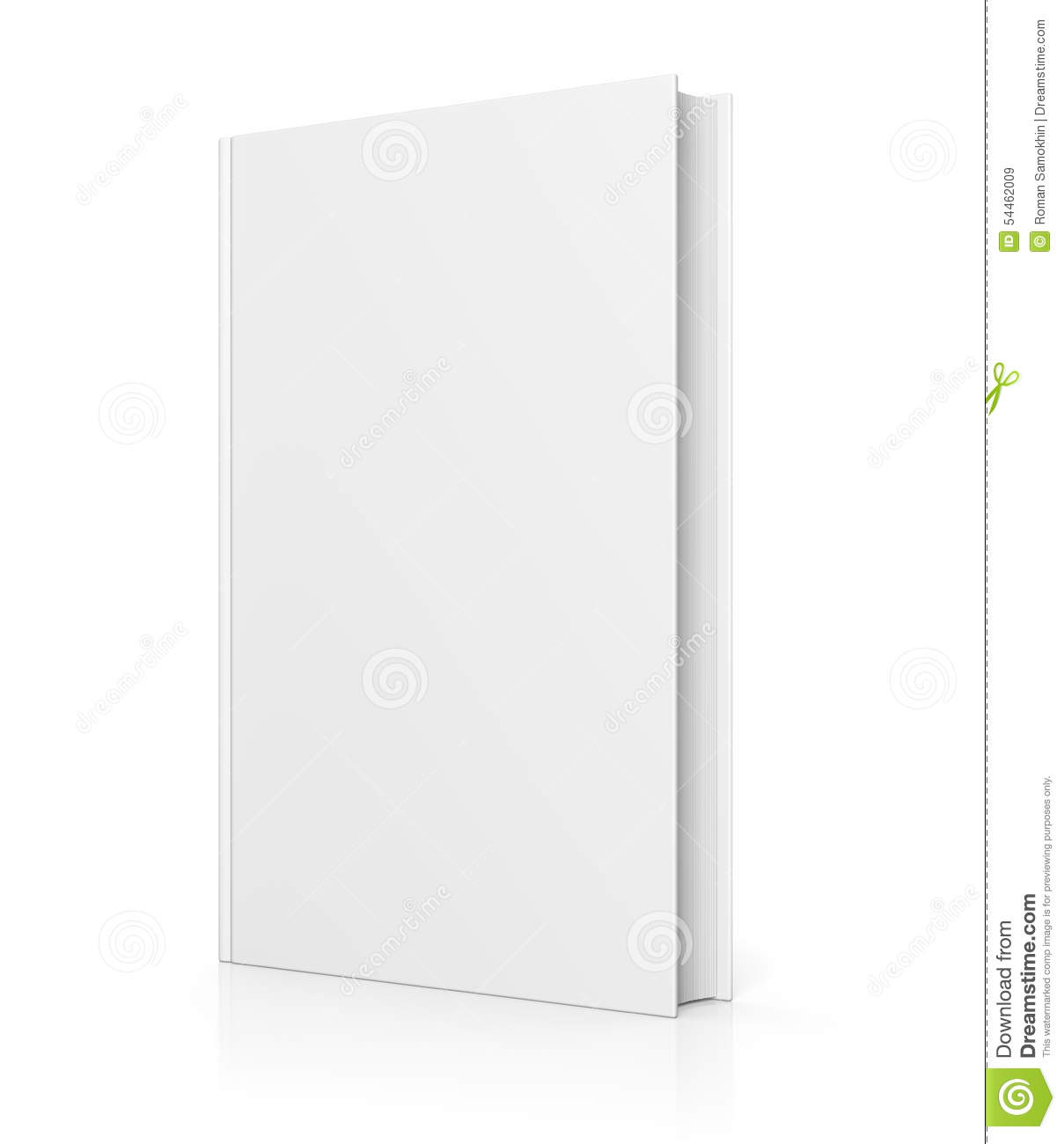 Book Cover White Background : Blank book cover isolated on white stock illustration