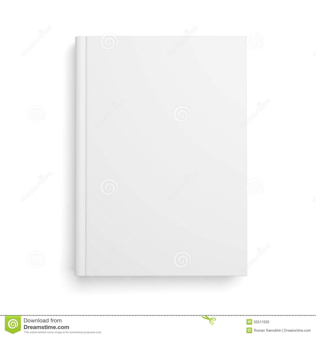 Book Cover White Background ~ Blank book cover isolated on white stock illustration