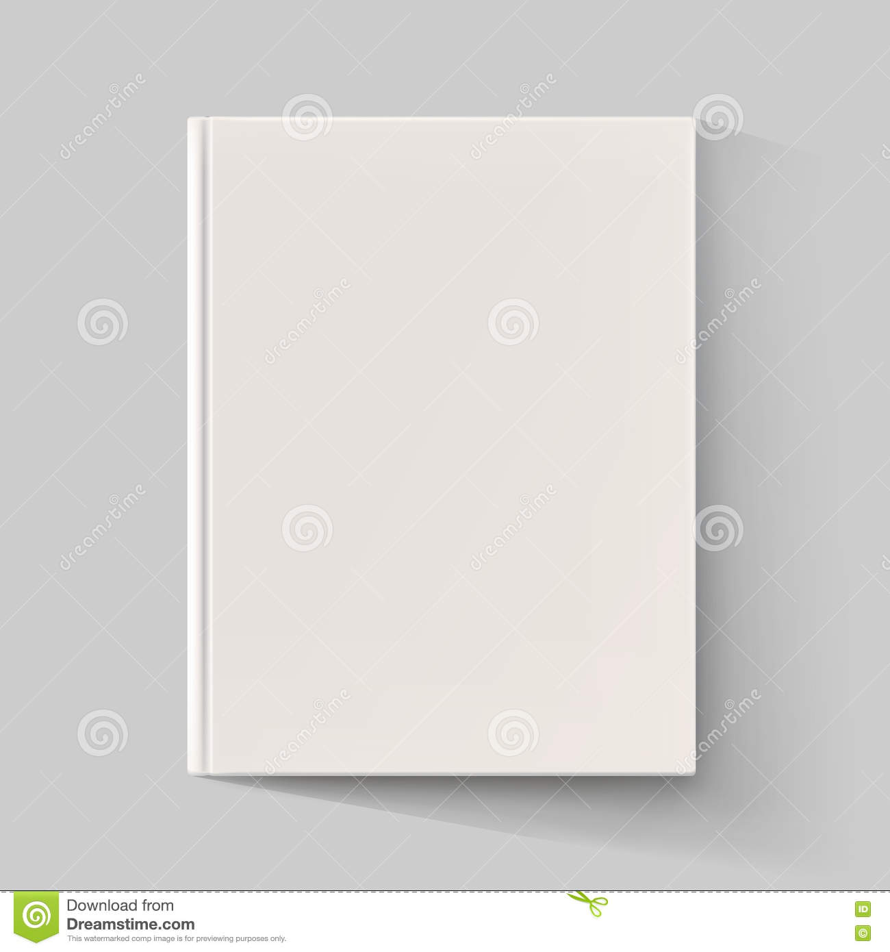 Blank Book Cover Vector Illustration Free ~ Blank book cover with long shadow vector illustration
