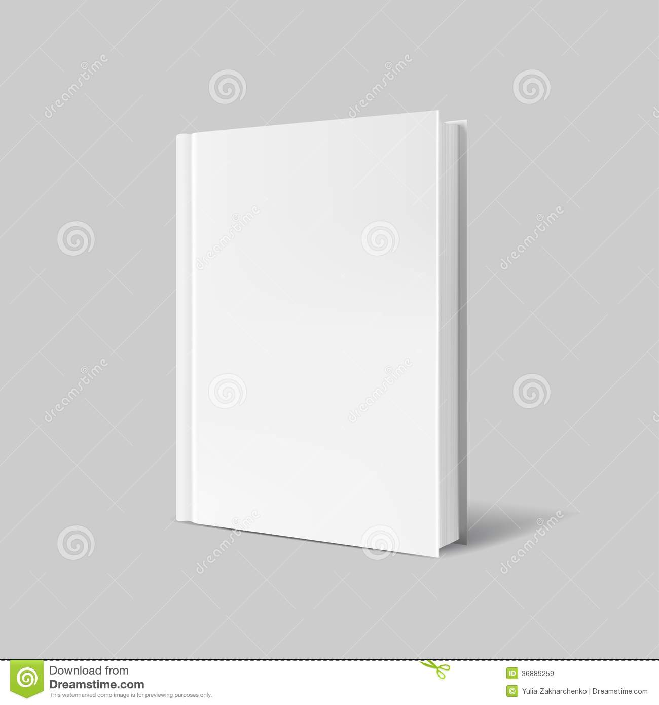 Blank Book Cover Background ~ Blank book cover over gray background royalty free stock