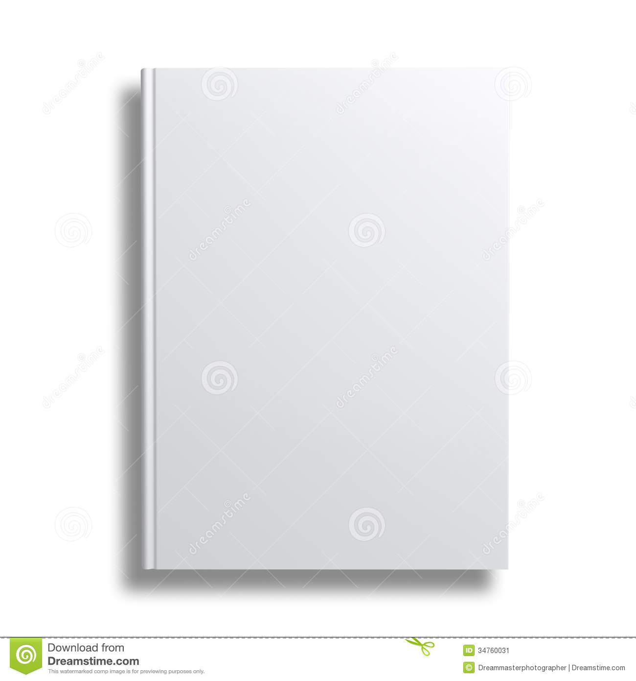 Book Cover White ~ Blank book cover over white background stock image