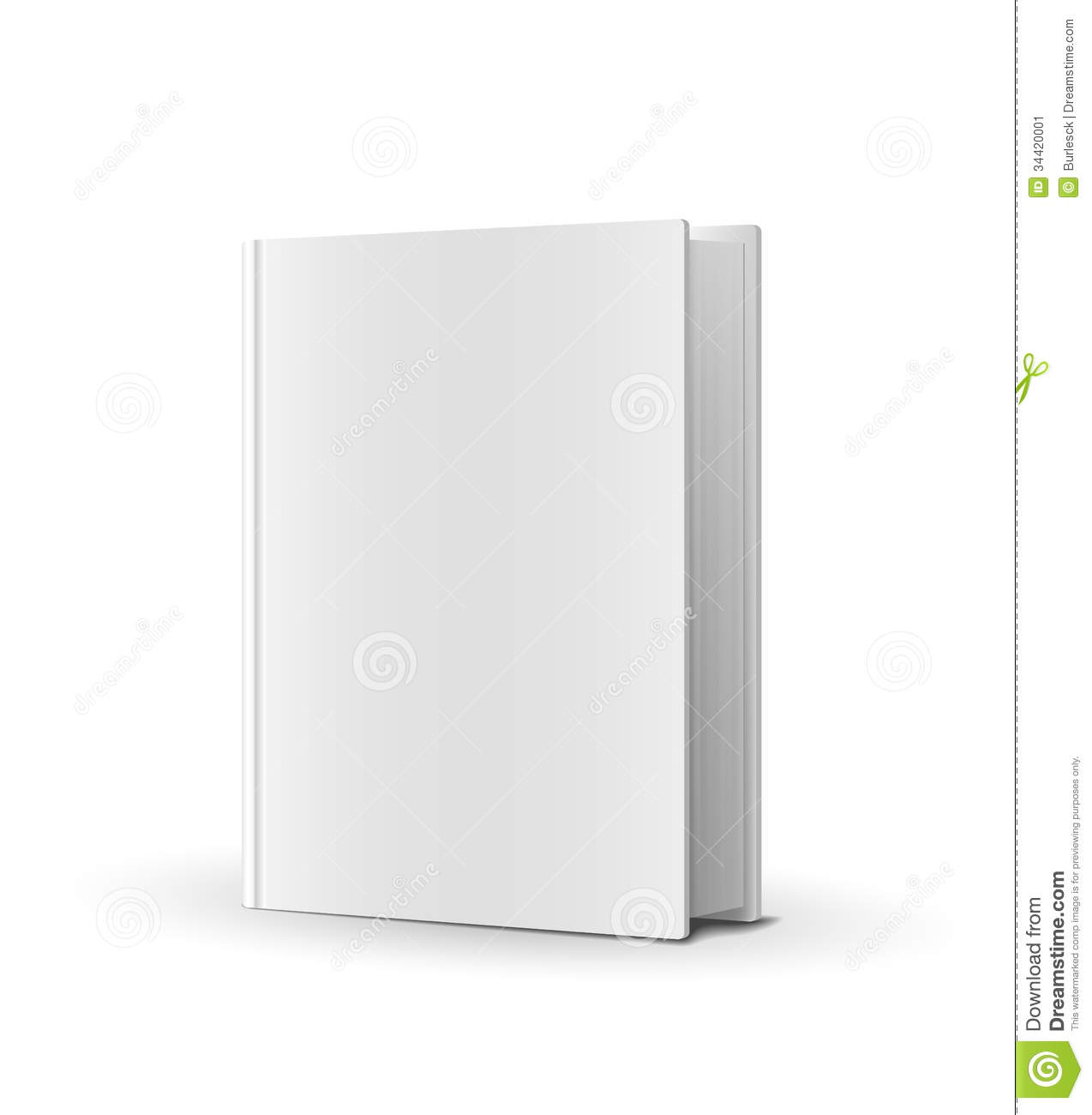 Blank Book Cover Vector Template : Blank book cover over white stock image