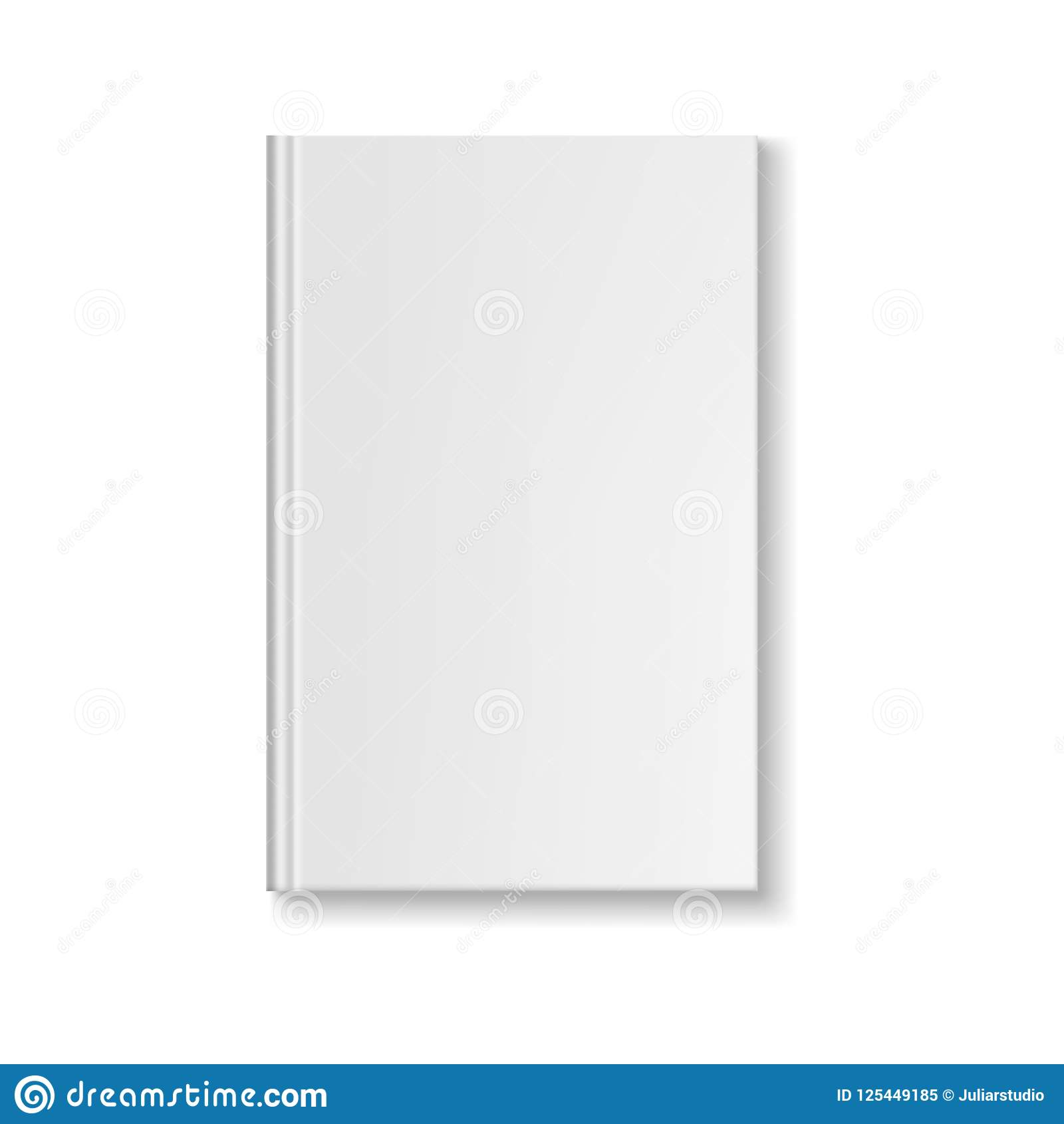 blank book cover template stock illustration illustration of