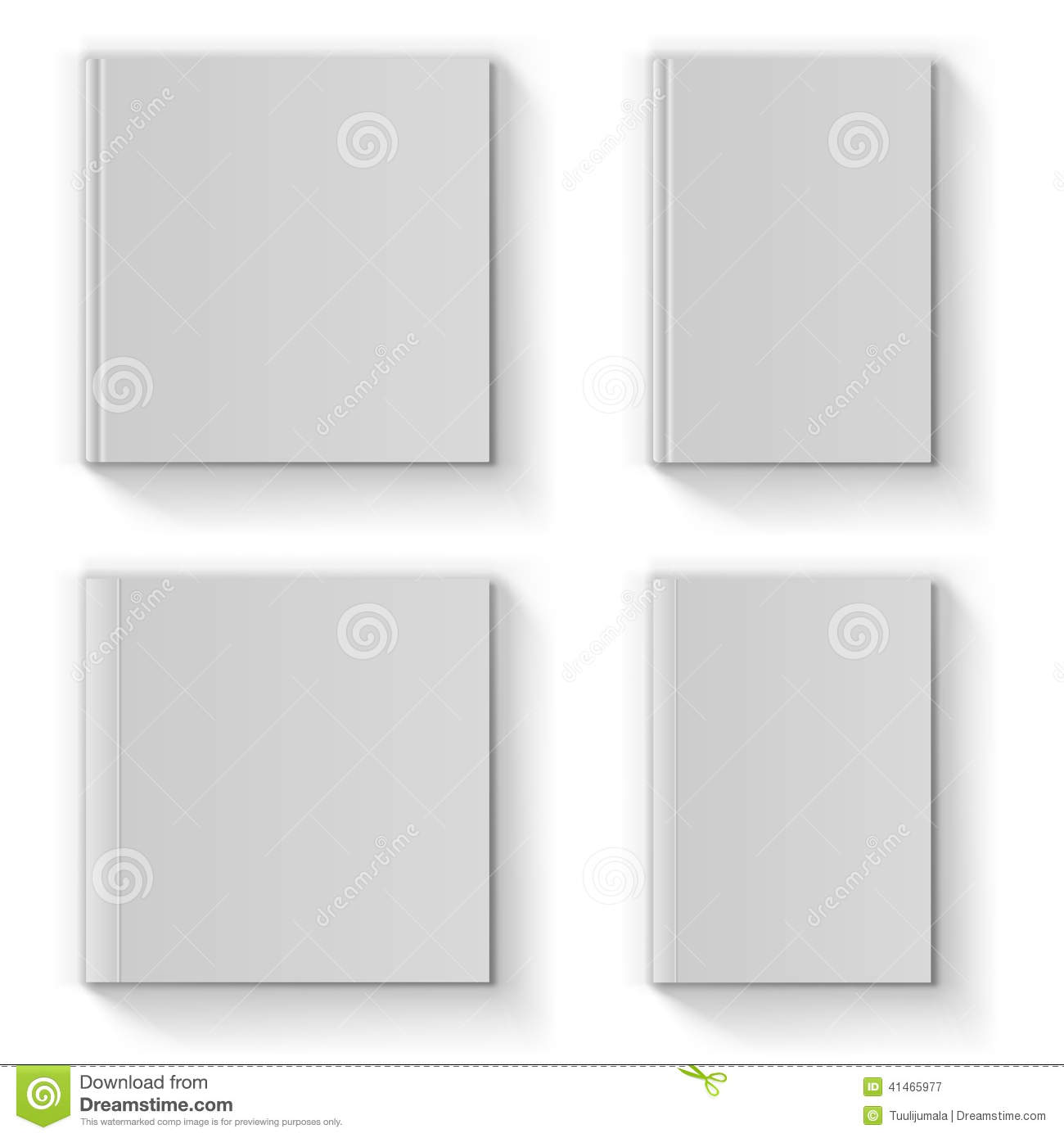 blank book cover template stock vector illustration of front 41465977