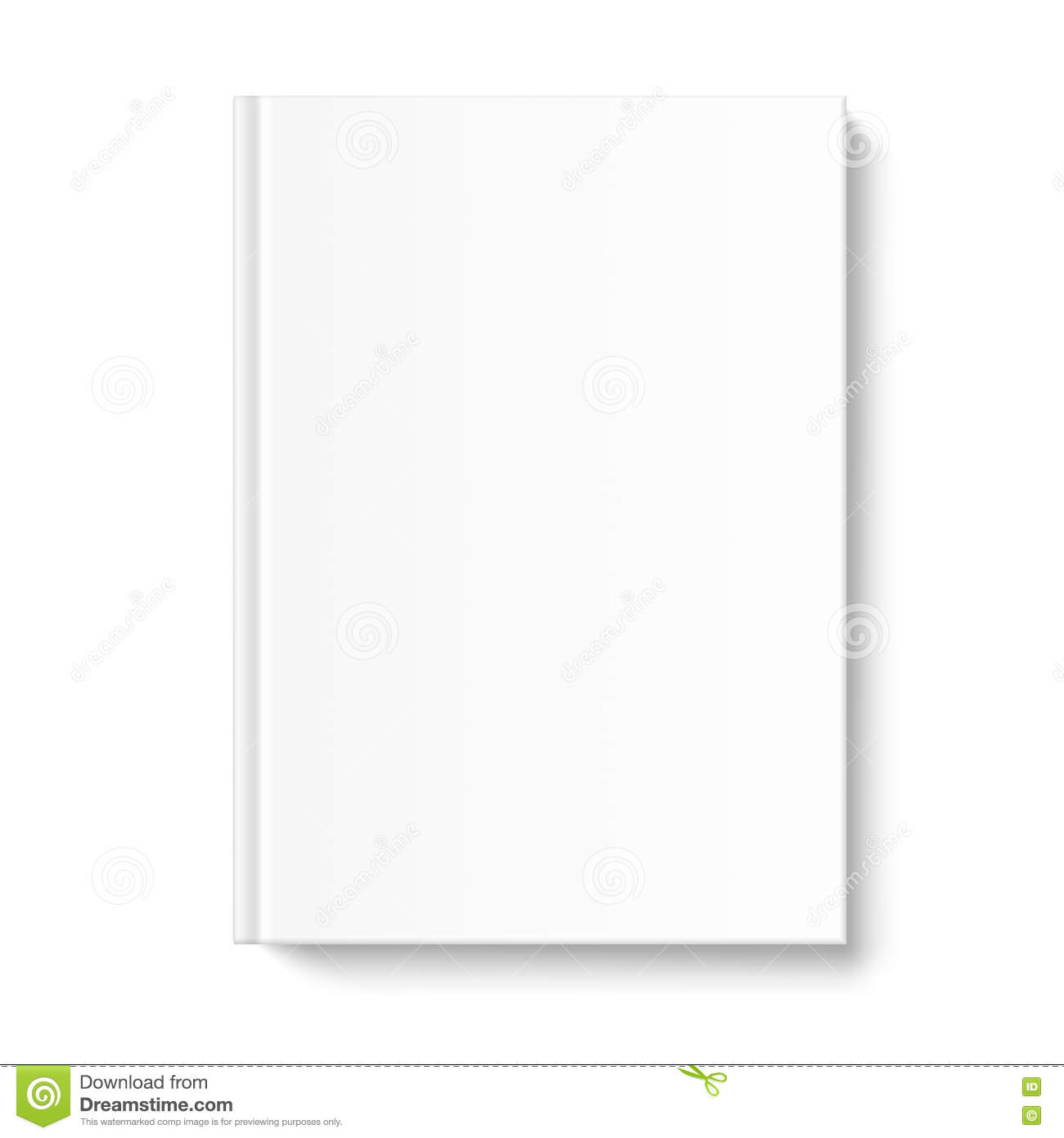 Book Cover White Background : Blank empty book or notebook template on clean gray