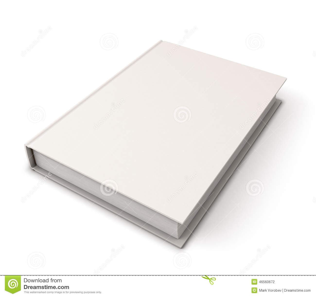 Blank Book Cover Template Stock Illustration - Image: 46560672