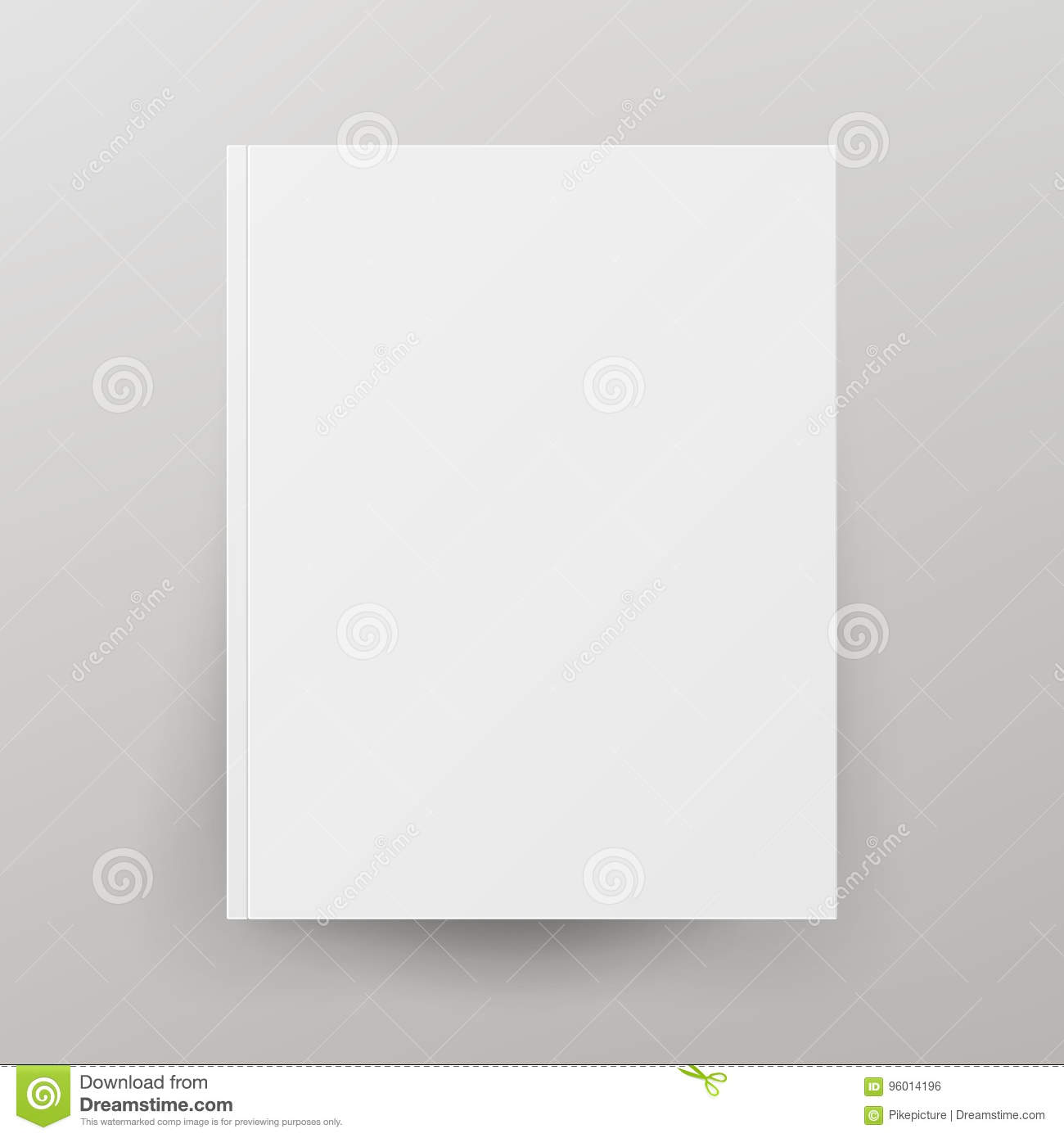 blank book cover vector illustration isolated on gray background