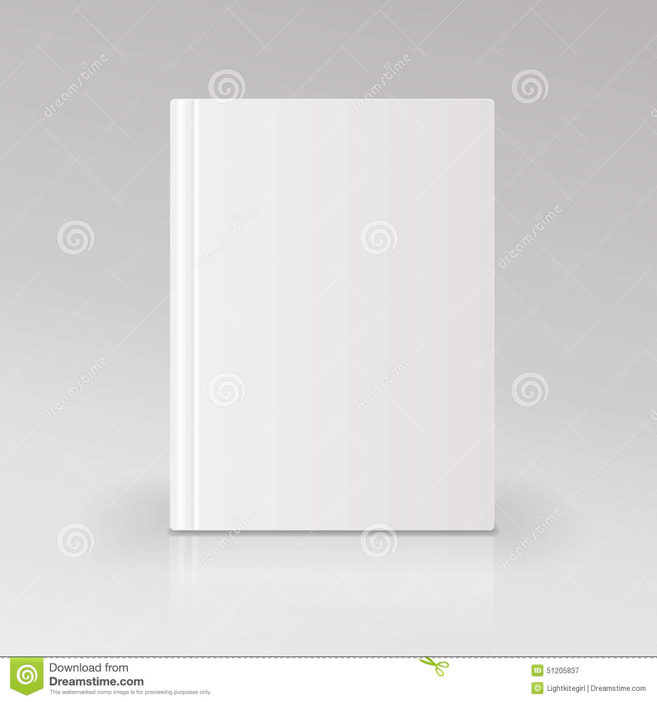 Blank Book Cover Vector Illustration Free ~ Blank book cover vector illustration isolated stock