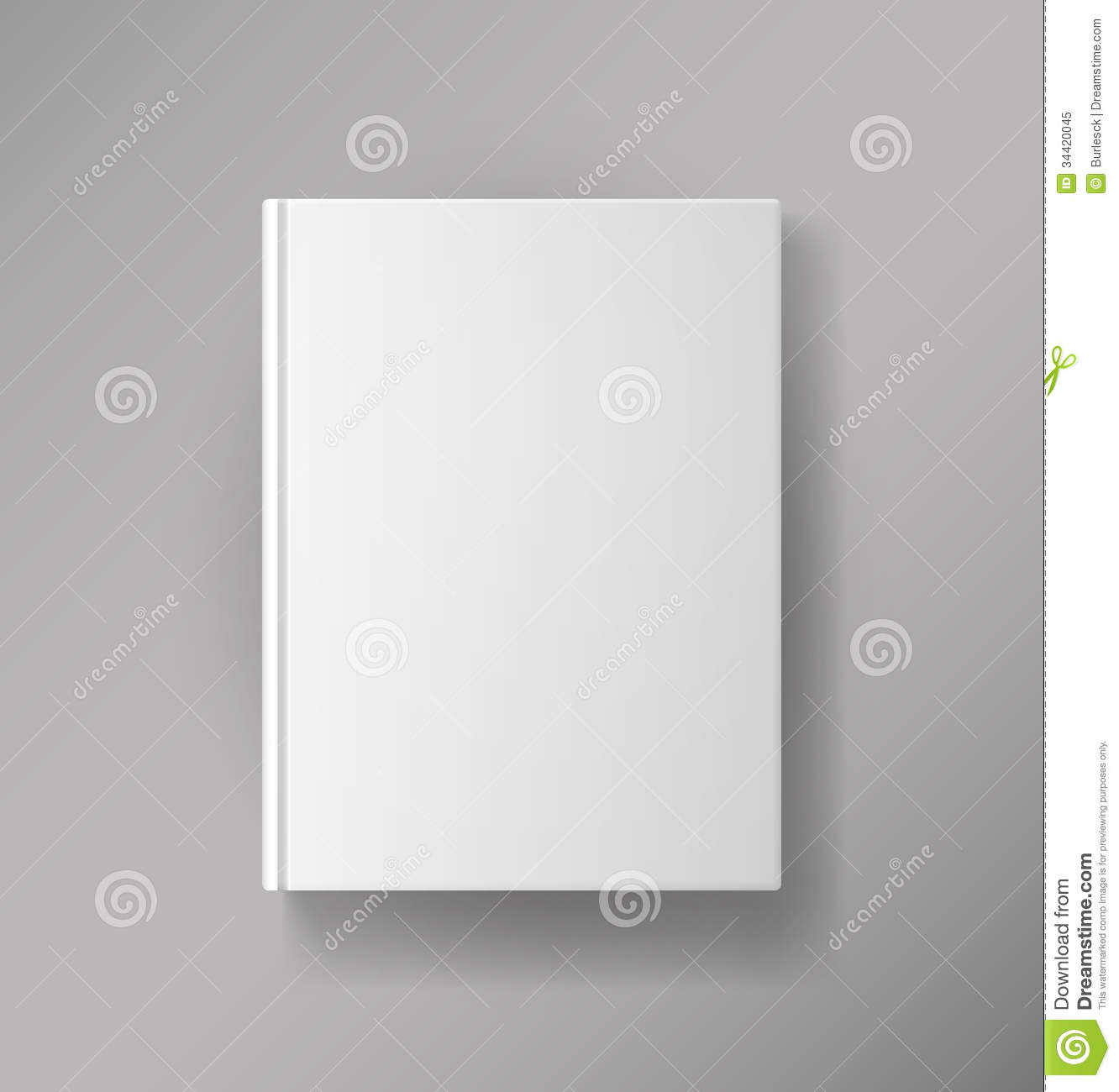 Book Cover White Background : Blank book cover royalty free stock photo image
