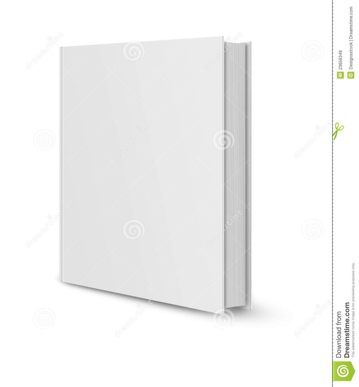 Blank book cover white