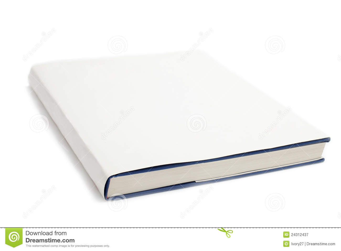 Cookbook White Cover : Blank book cover white stock illustration of