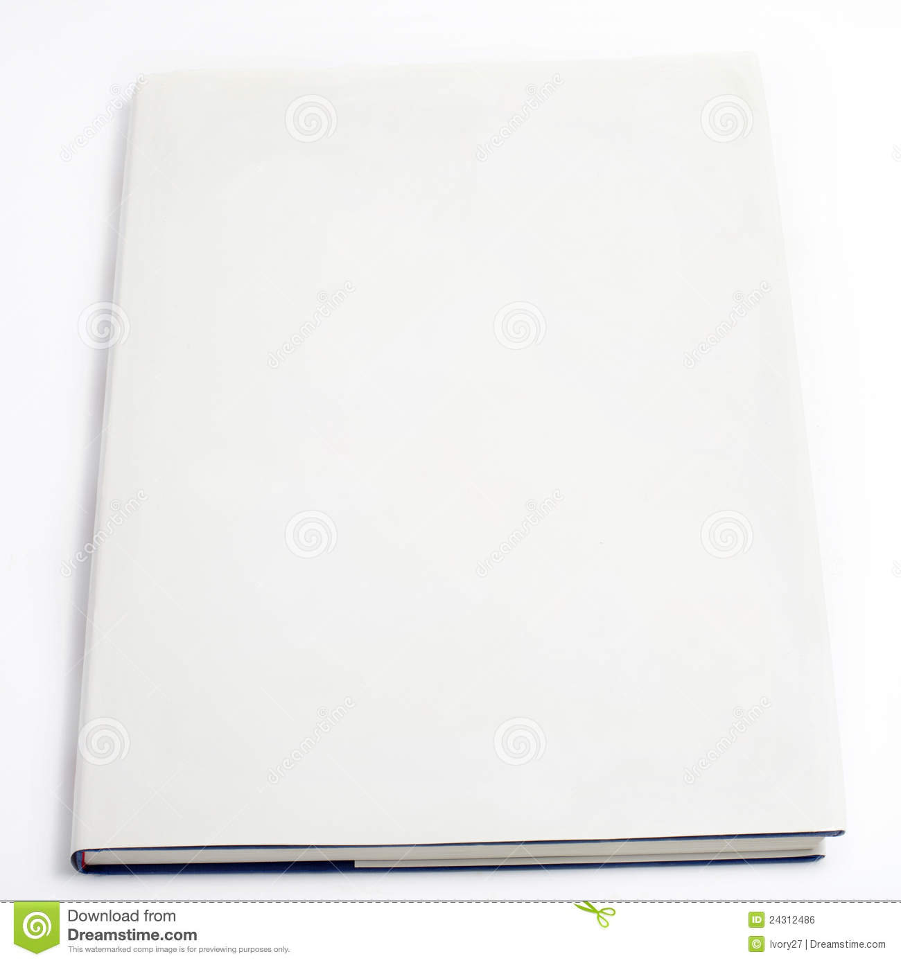 Blank Book Cover White Royalty Free Stock Image Image