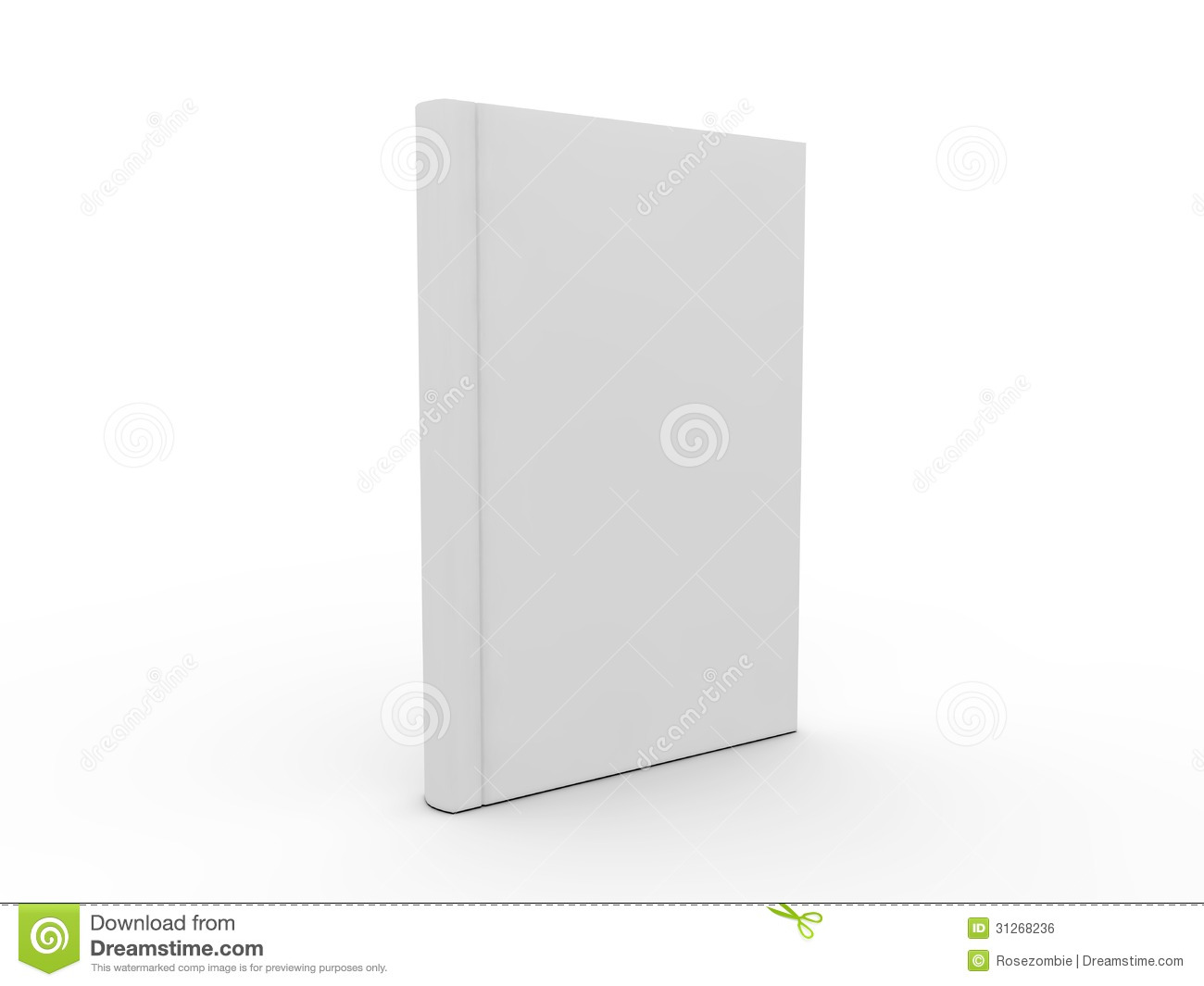 Book Cover White Background : Blank book cover royalty free stock image