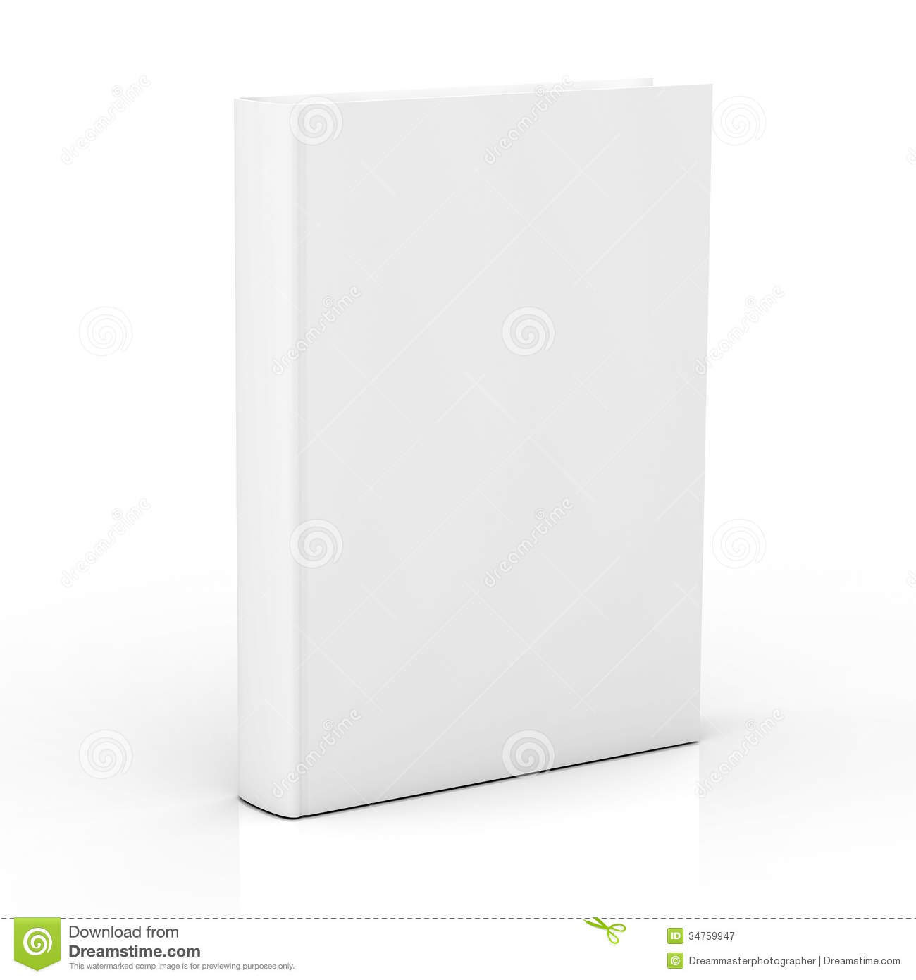 Book Cover White Background : Blank book cover on white background royalty free stock