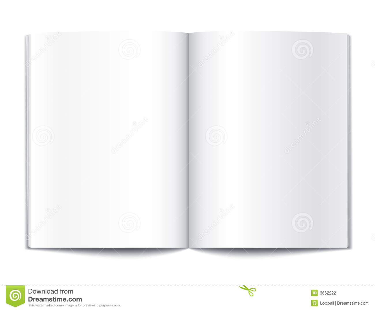 Blank Book Pages Template Stock Photography - Image: 3662222