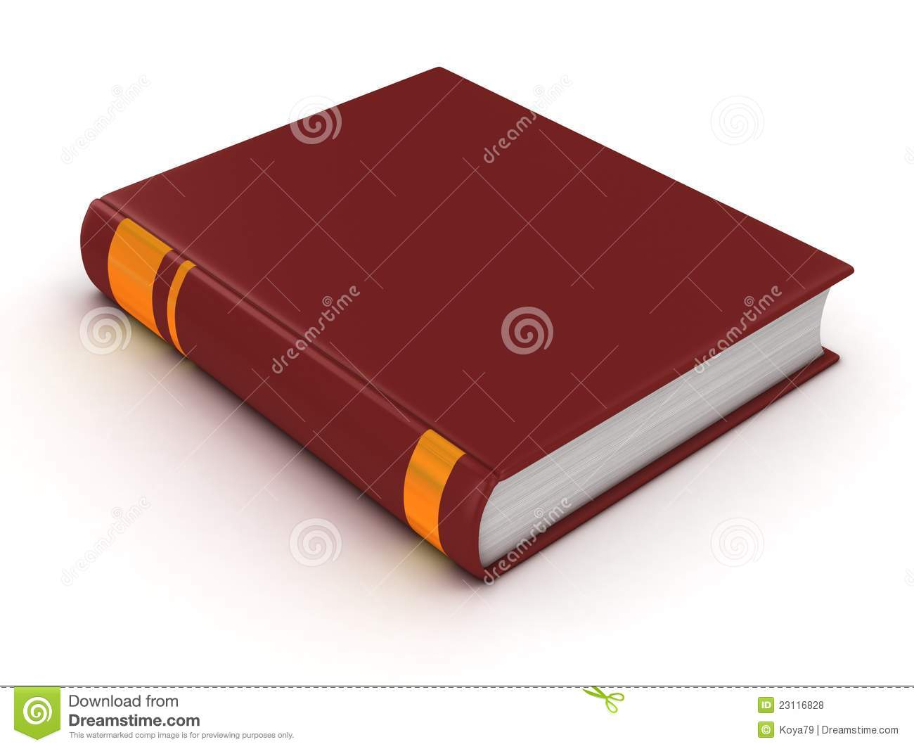 Cookbook With Red Cover : Blank book with red cover royalty free stock photos