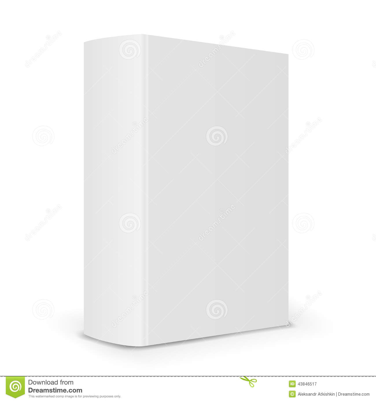 Blank Book Cover Vector Illustration Free : Blank book spine stock vector image