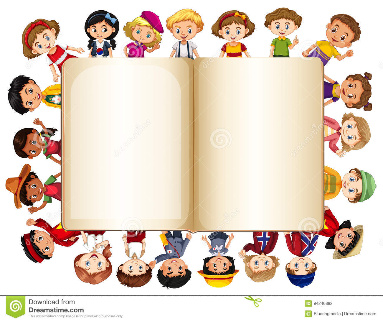 Children border images galleries with for Blank book template for kids