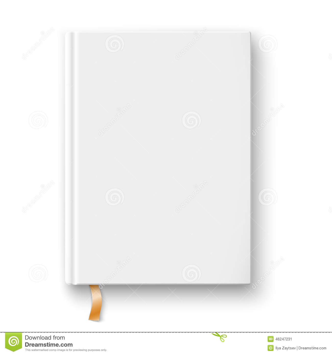Blank book template with gold bookmark stock vector image 46247231 for Small booklet template