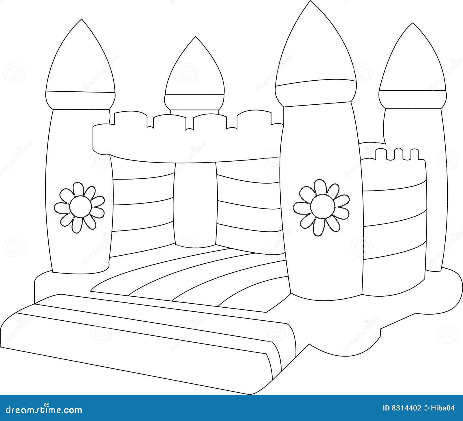 Blank Bouncy castle stock vector