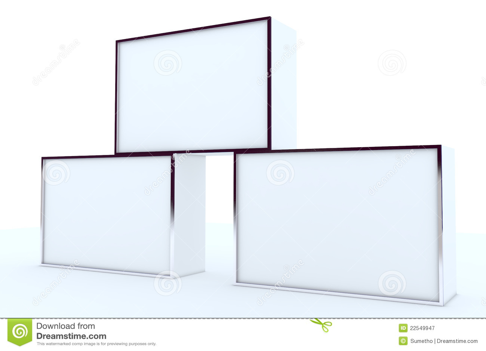 blank box display aluminum frame