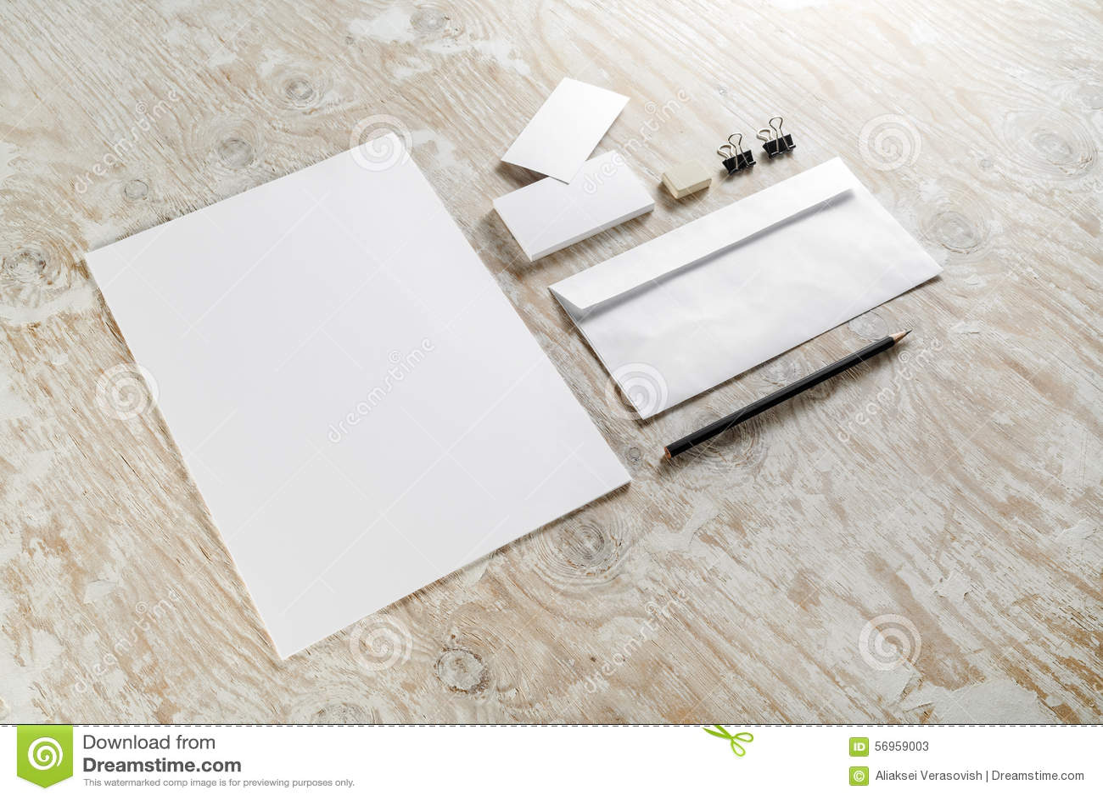 Blank brevpapper