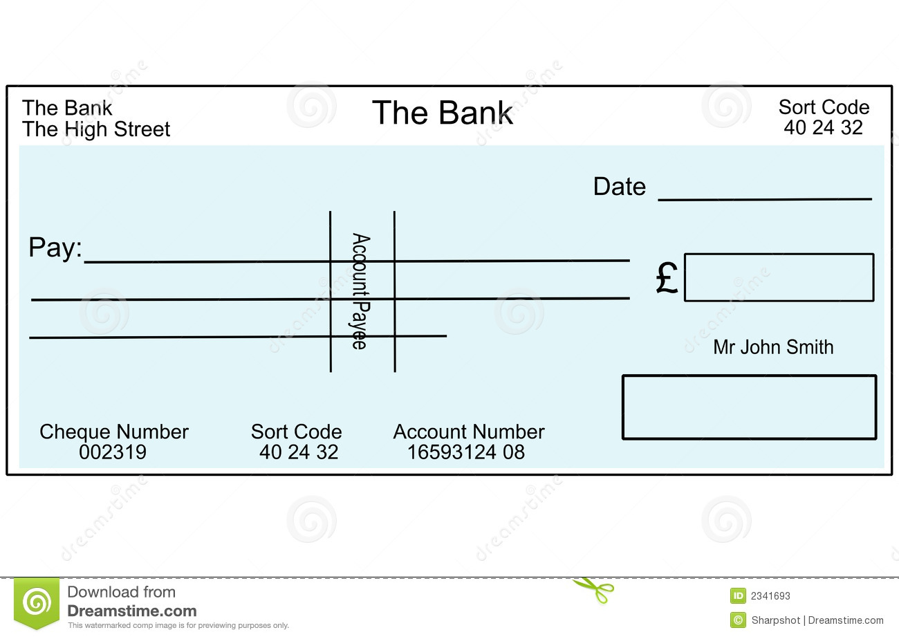 Blank British Cheque Photos Image 2341693 – Blank Cheque Template