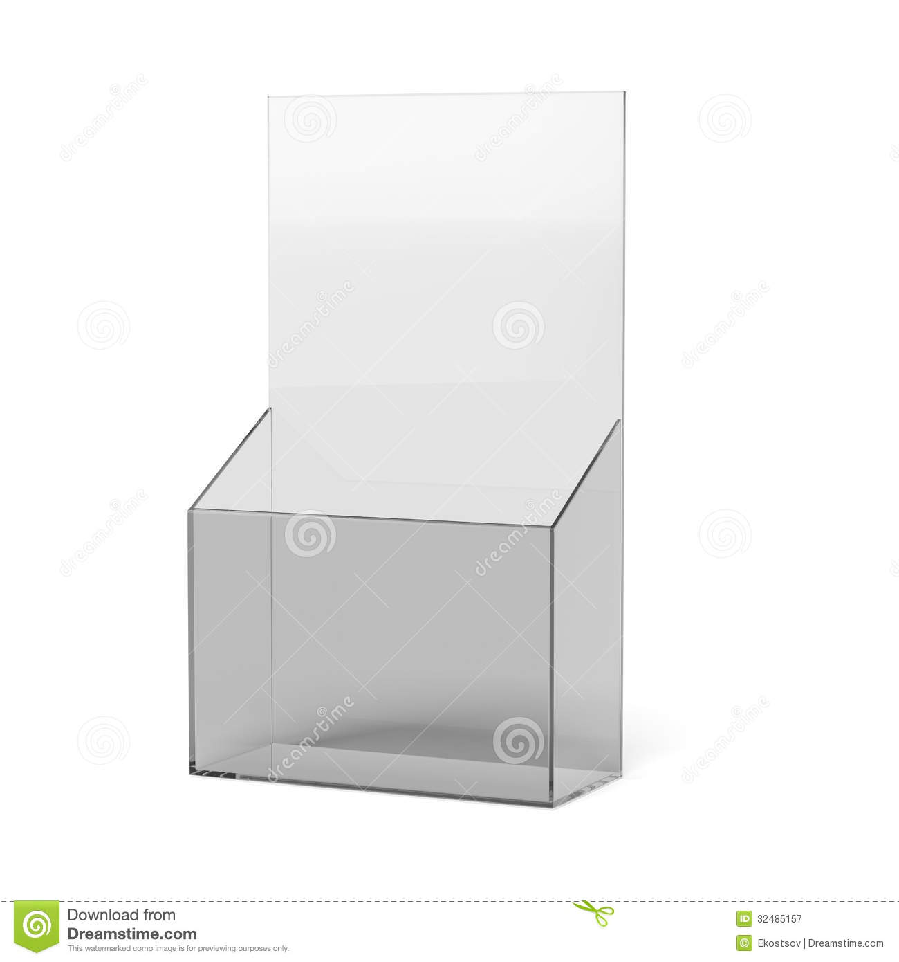 Blank brochure holder royalty free stock photography for Paper brochure holder template