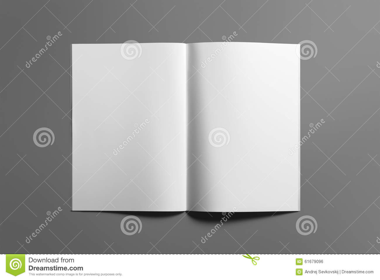 blank brochure magazine on grey to replace your design stock