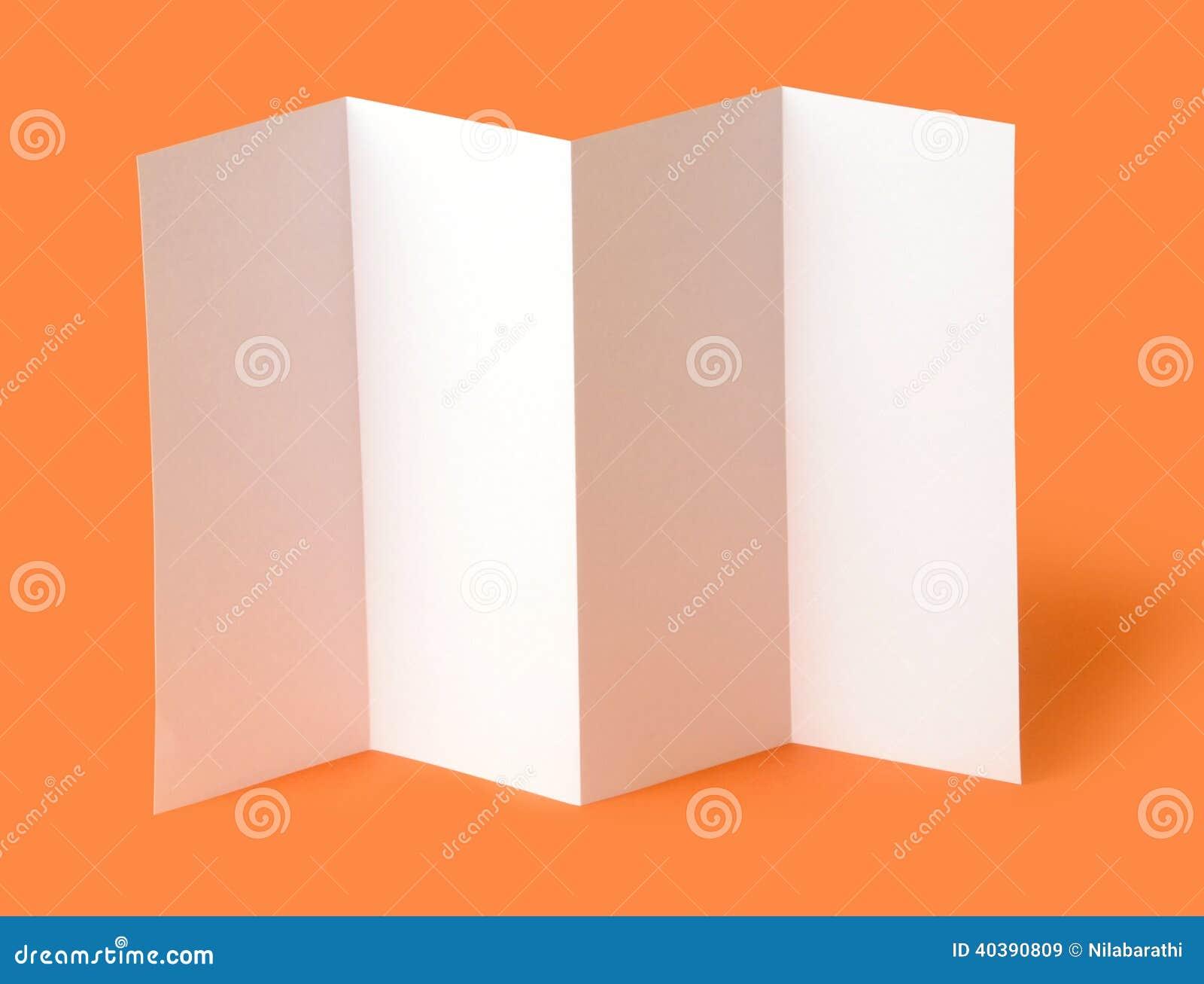 blank travel brochure template - blank brochure stock photo image 40390809