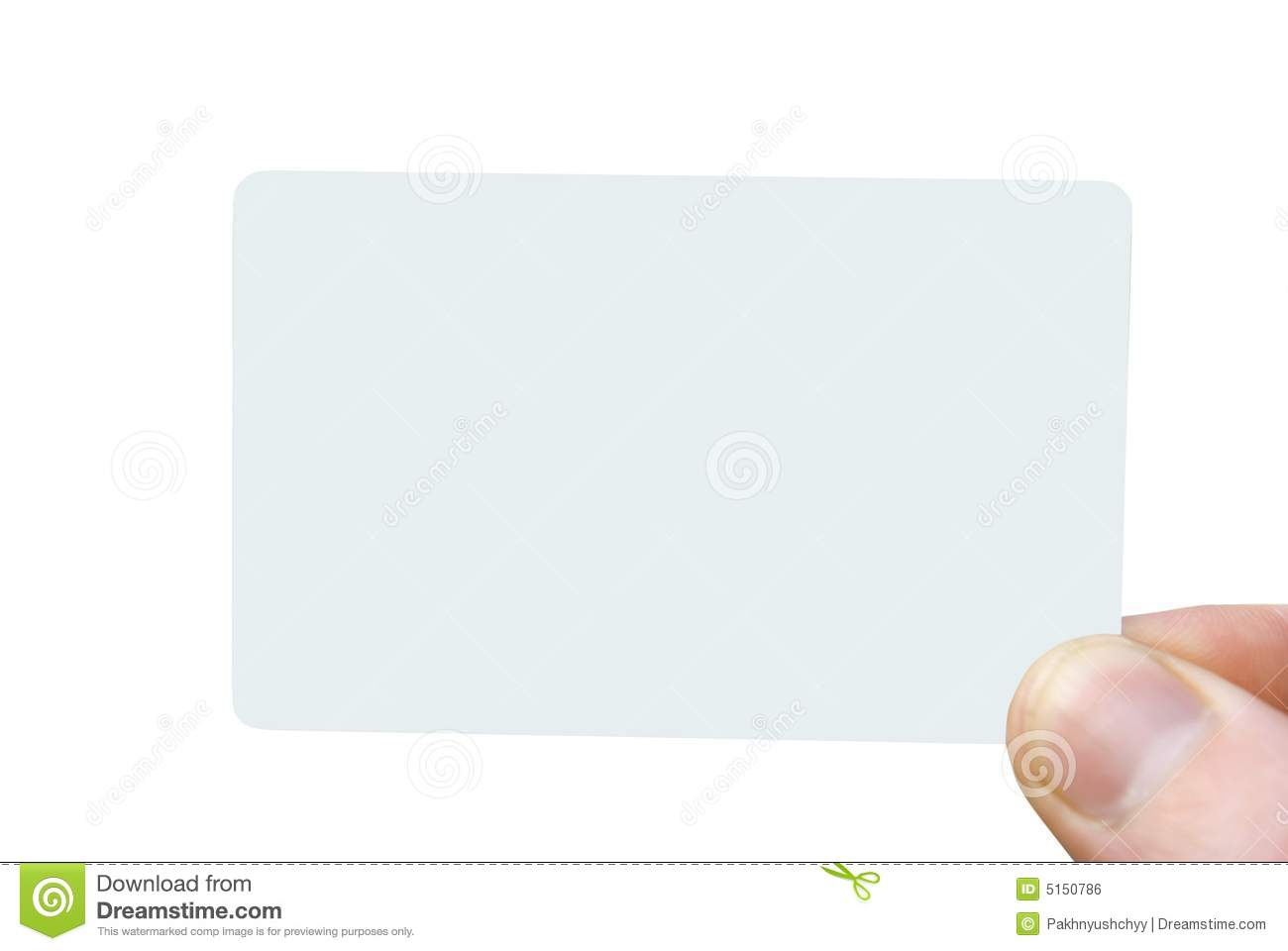 Blank Business Card Royalty Free Stock Image Image