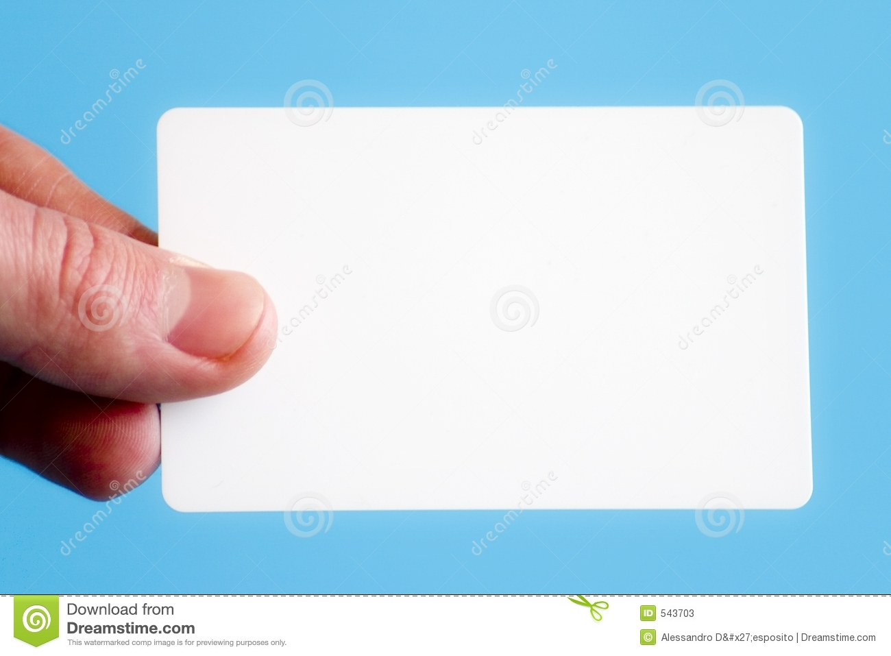 Blank Business Card Stock s Image