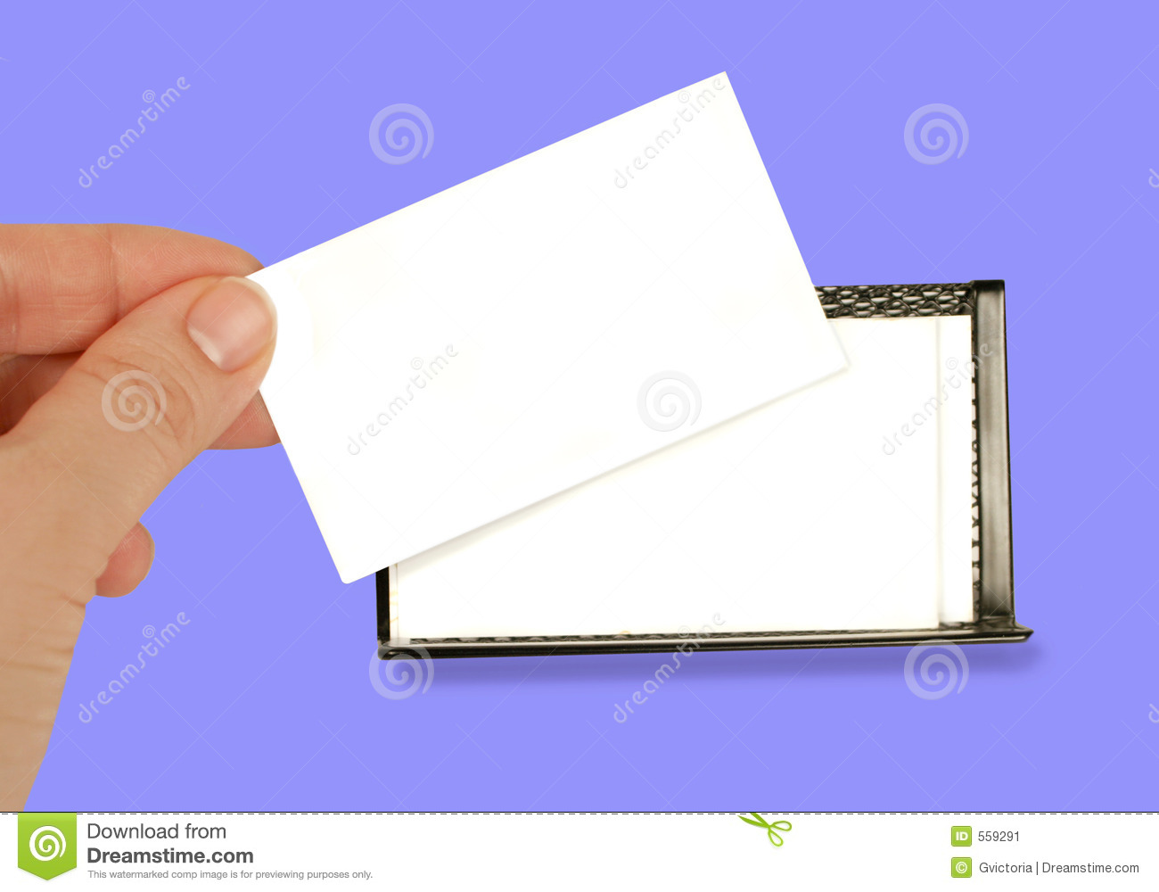 Blank Business Card Stock Image Image