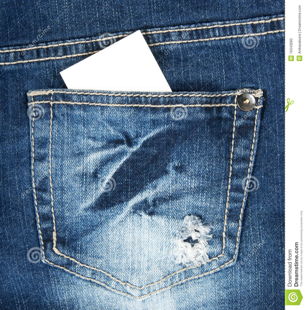 Blank business card in blue jeans pocket stock photo image of blank business card in blue jeans pocket reheart Image collections