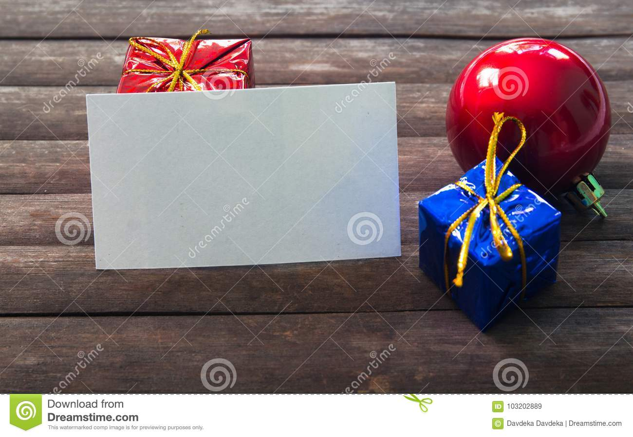 Blank business card in christmas decor on wooden background stock download blank business card in christmas decor on wooden background stock image image of blank reheart Images