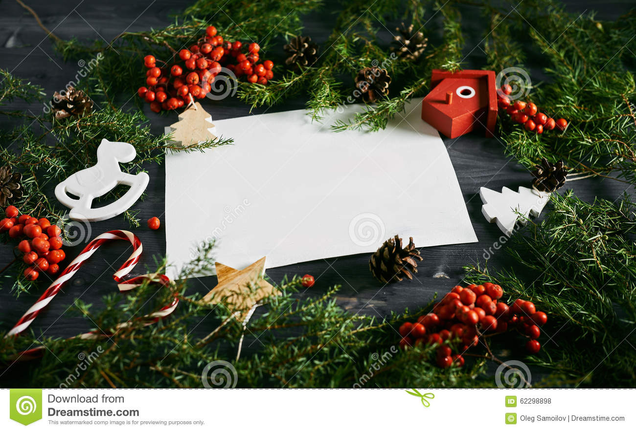 Blank business card on a christmas wooden background stock photo download blank business card on a christmas wooden background stock photo image of child reheart Images