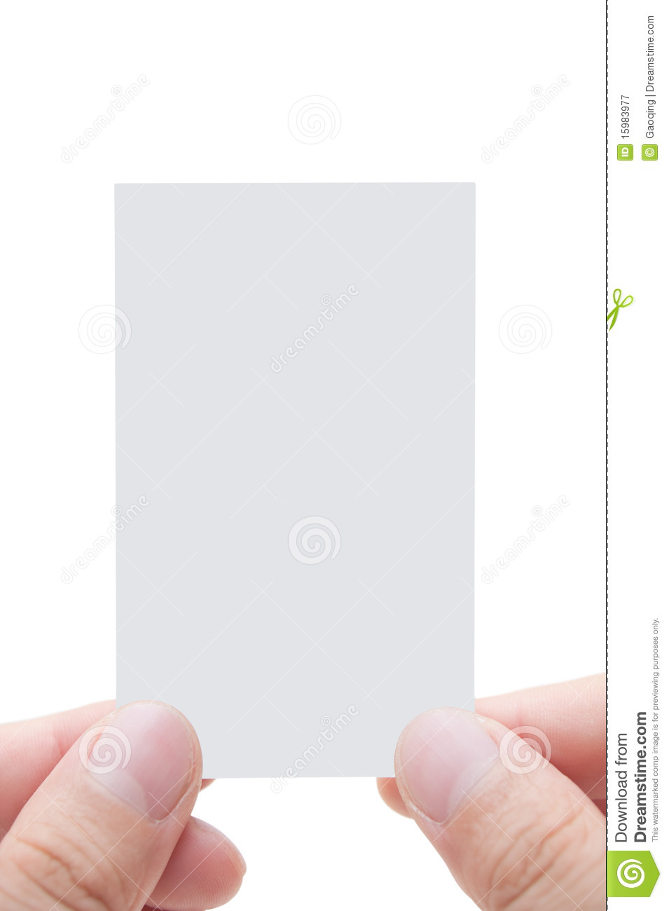 Blank Business Card With Human s Fingers Royalty Free