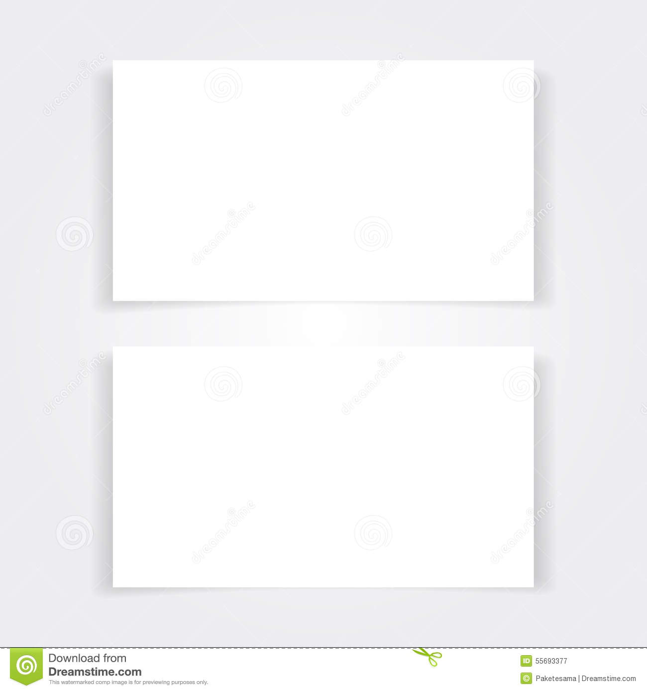 blank business card mock up set stock vector image 55693377. Black Bedroom Furniture Sets. Home Design Ideas
