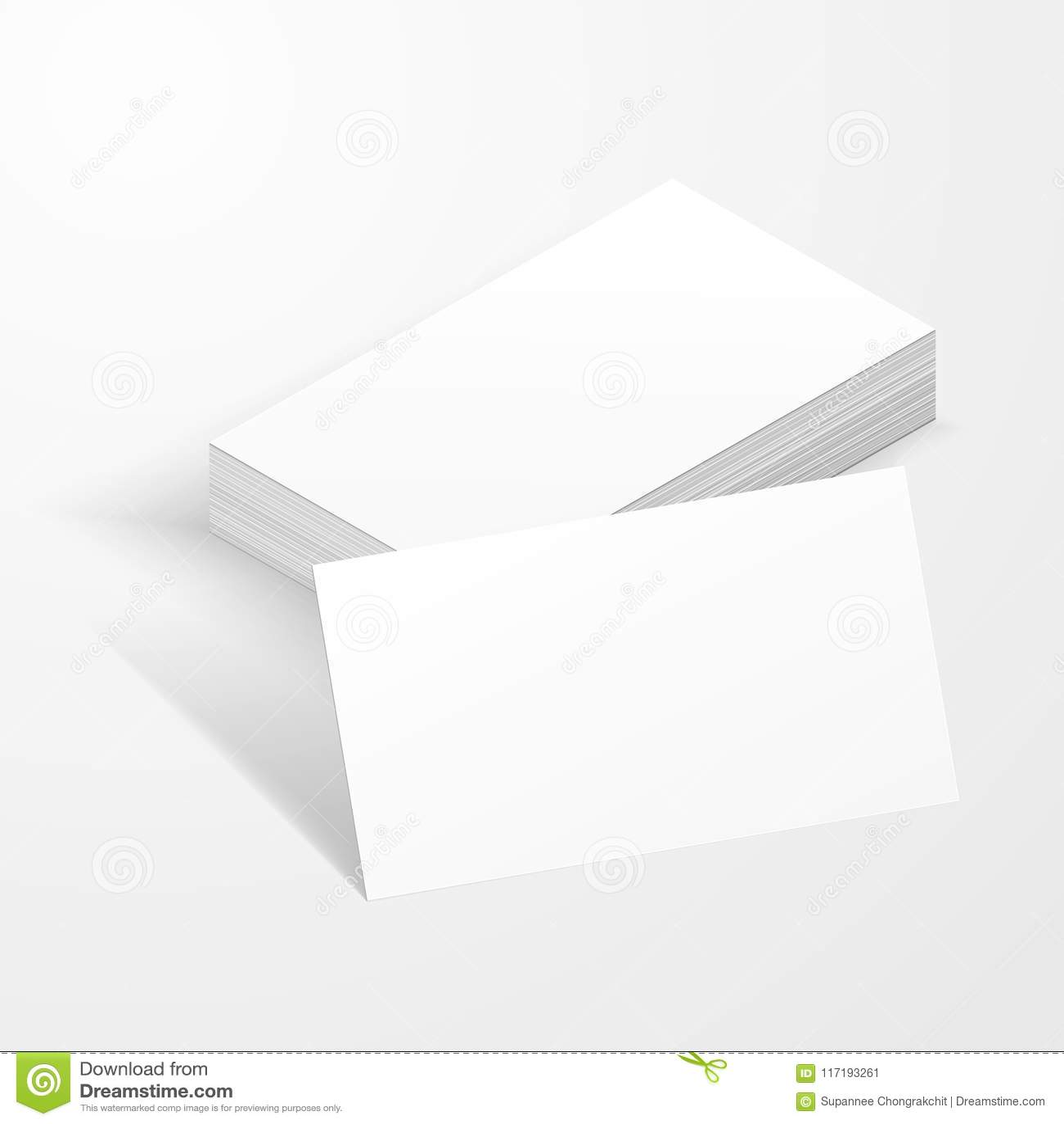 Blank business card mockup template stock illustration blank business card mockup template flashek Choice Image