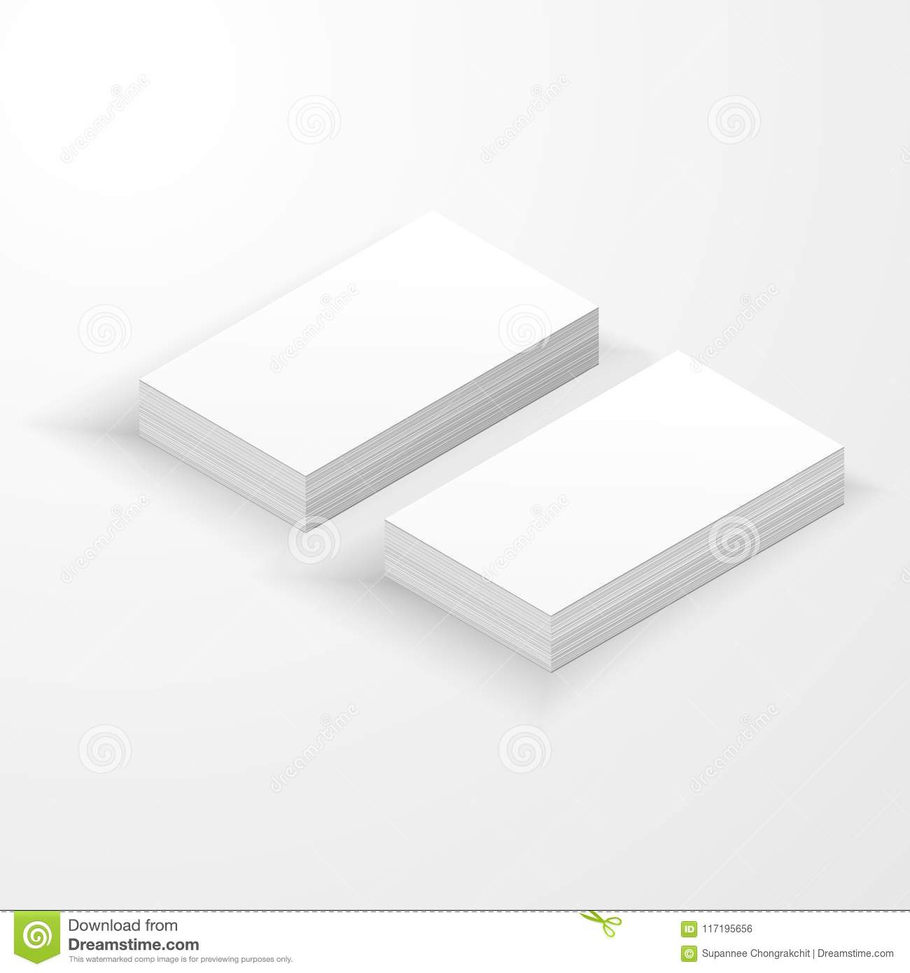Blank business card mockup template stock illustration blank business card mockup template wajeb