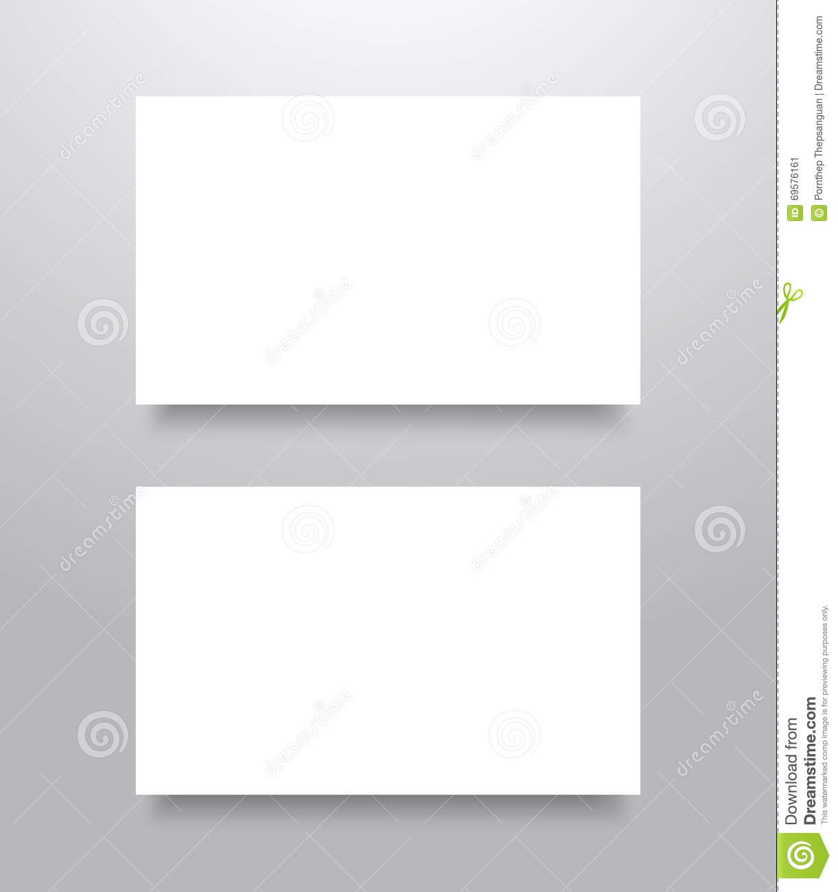 Blank Business Card Mockup Stock Illustration Image