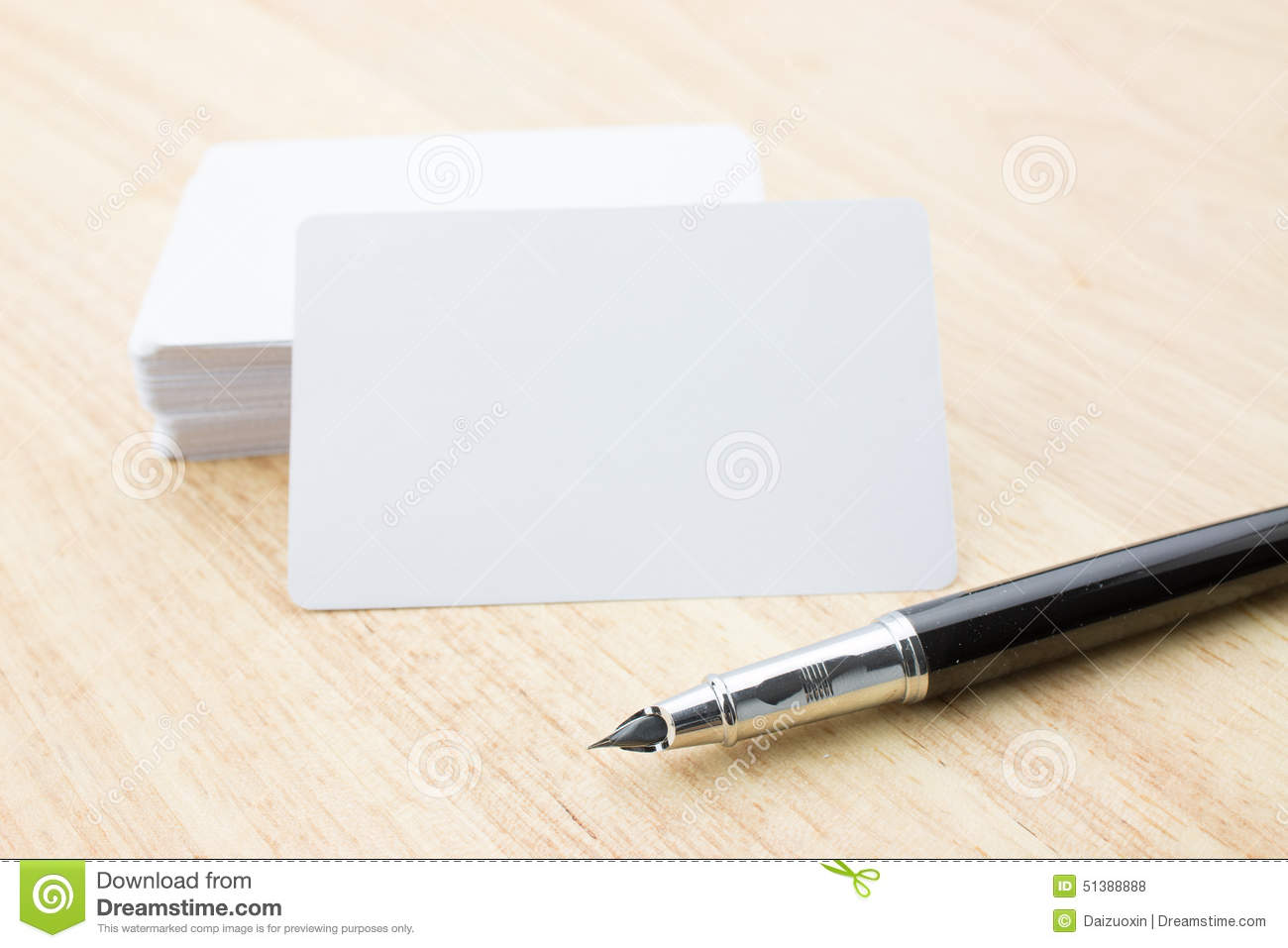Blank Business Card And Pen Stock Photo - Image of business, copy ...
