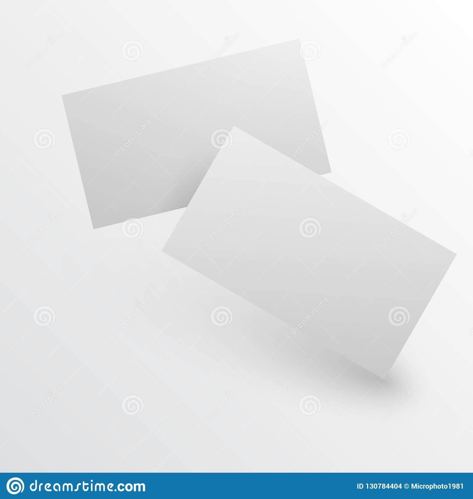 blank business card with shadow template vector illustration blank