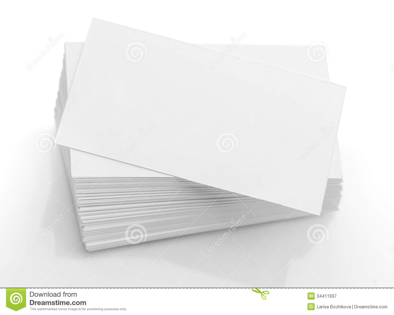 Blank Business Card Royalty Free Stock Photography - Image: 34411937