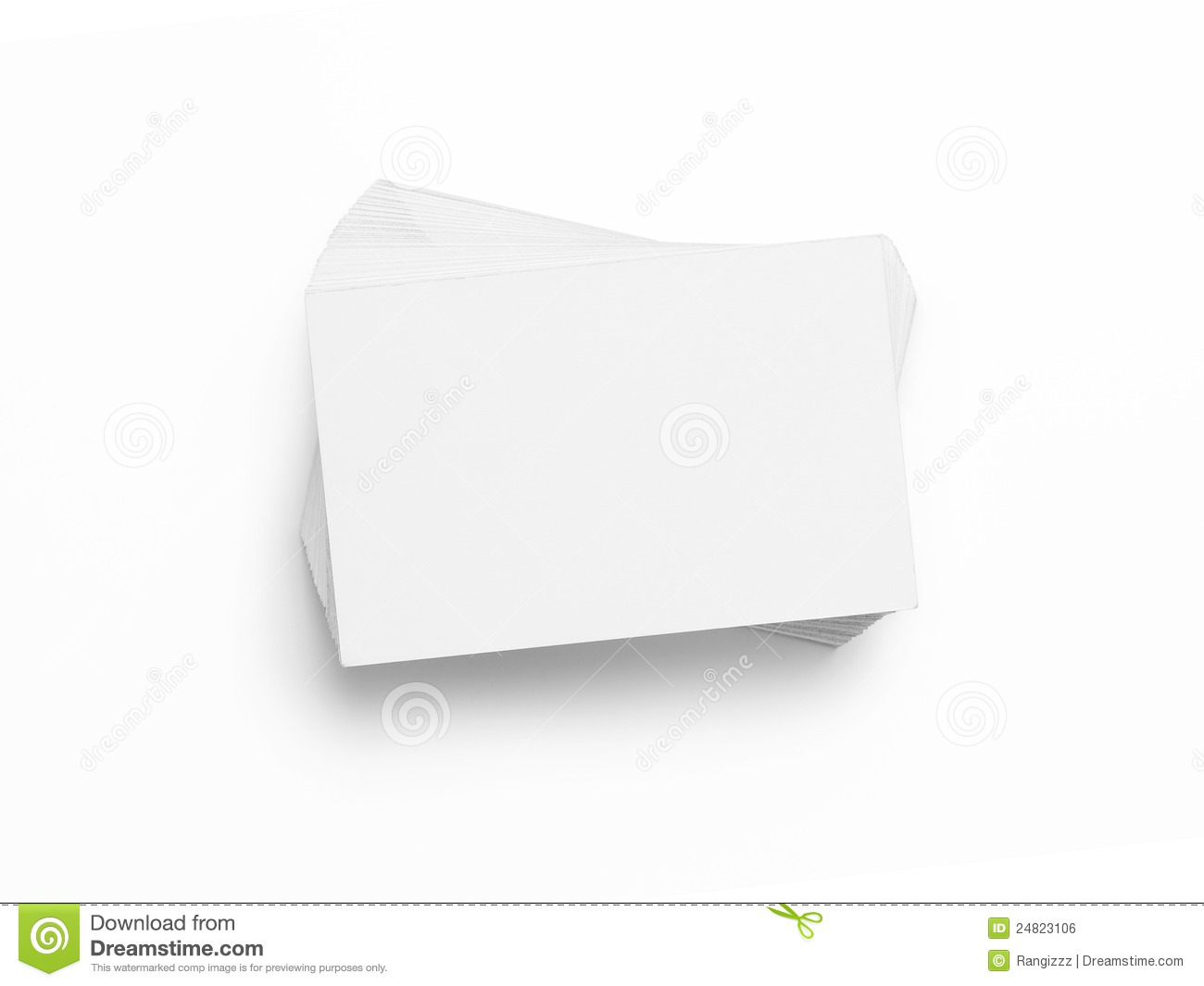 Blank Business Cards Royalty Free Stock Image - Image: 24823106