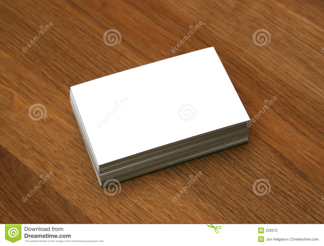 Blank Business Cards Stock Photography - Image: 256572