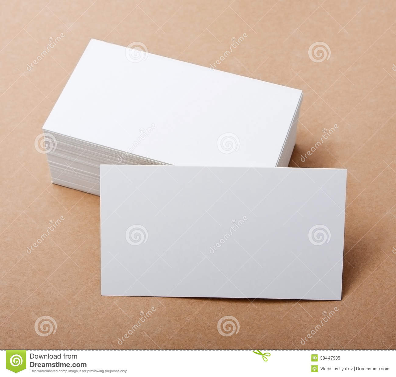 Blank Business Cards Royalty Free Stock Image