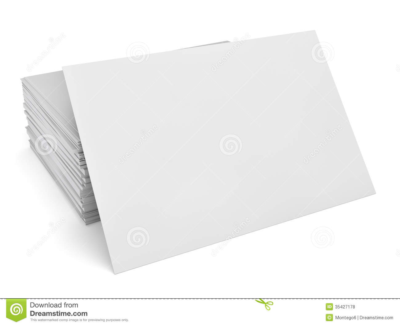 Blank Business Cards Royalty Free Stock s Image