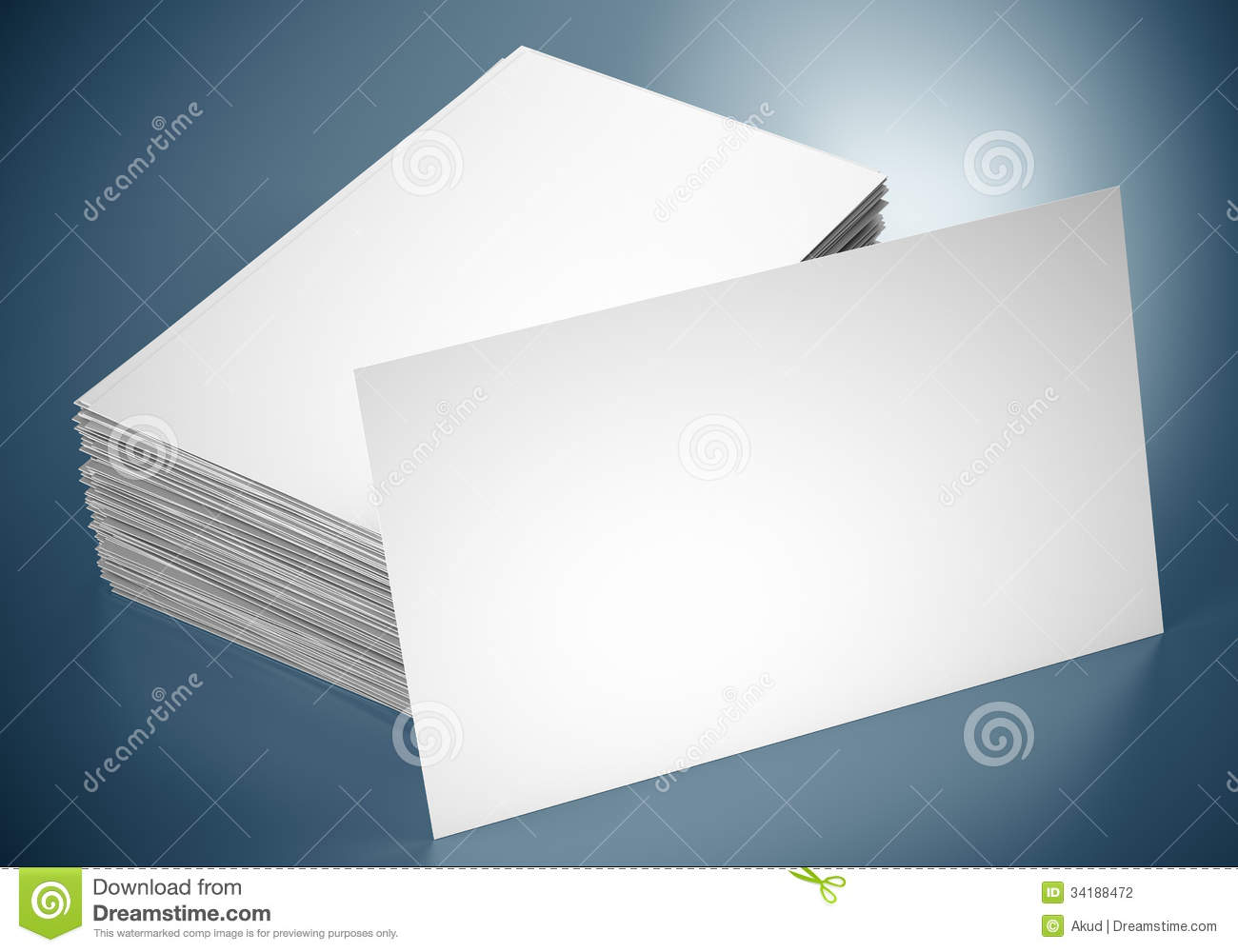 Blank Business Cards Stock graphy Image