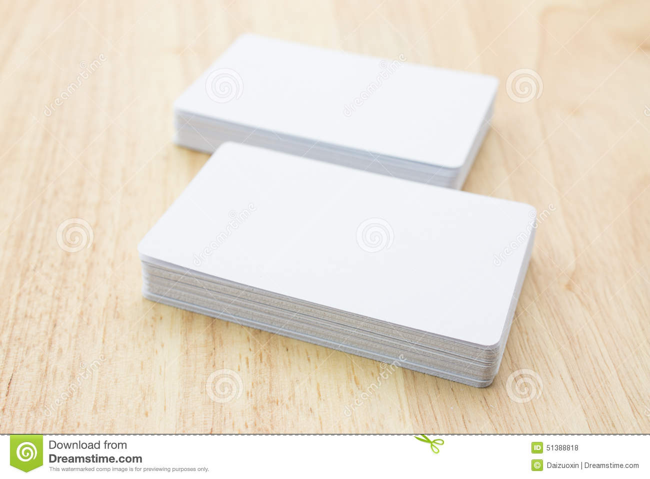 Blank business cards stock photo. Image of card, layer - 51388818
